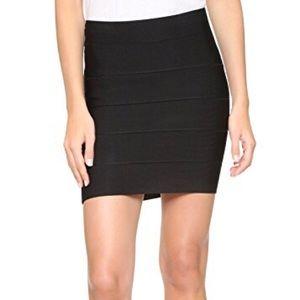 BCBG Black Simon Textured Power Skirt